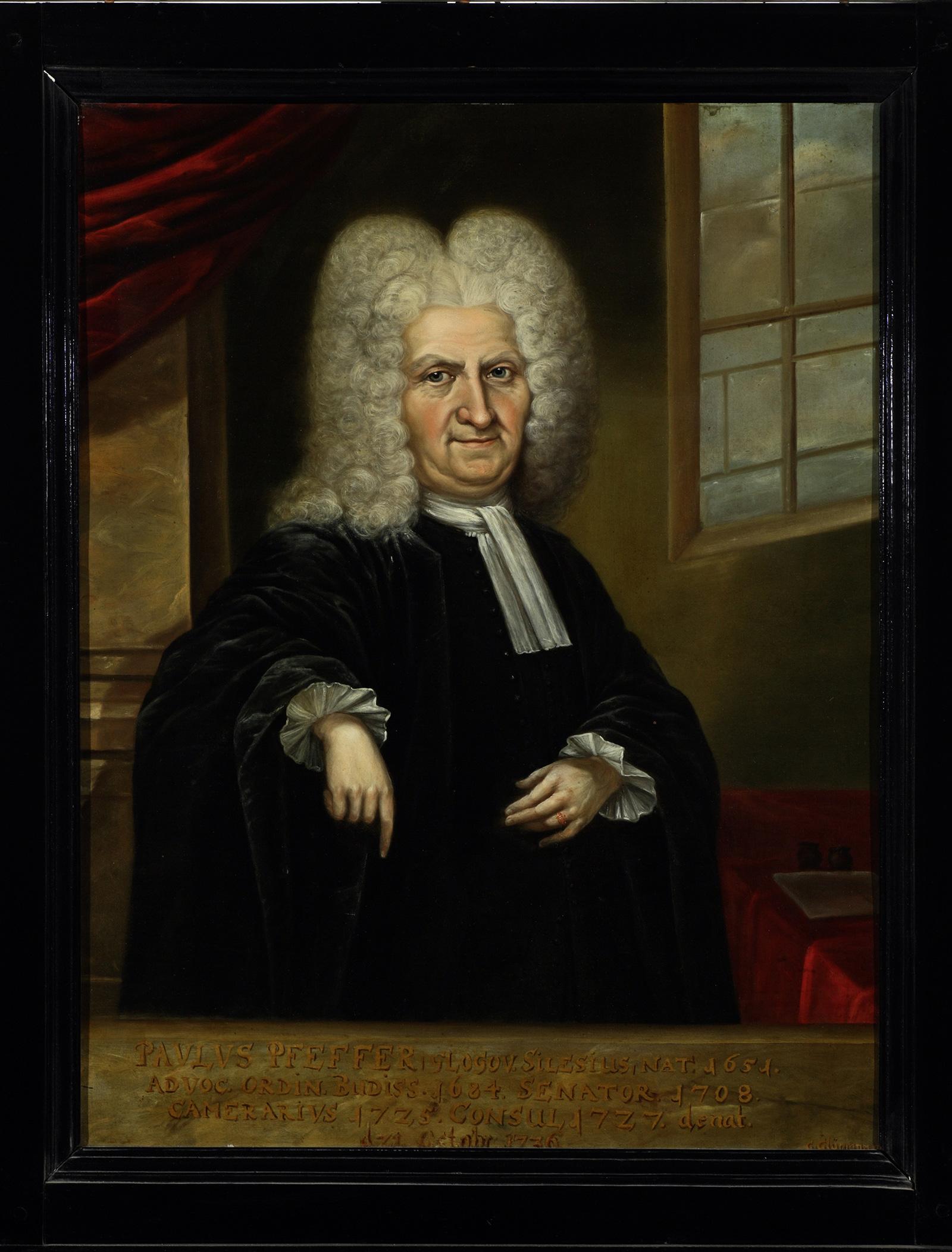 Gemälde Mann mit weißer Perücke