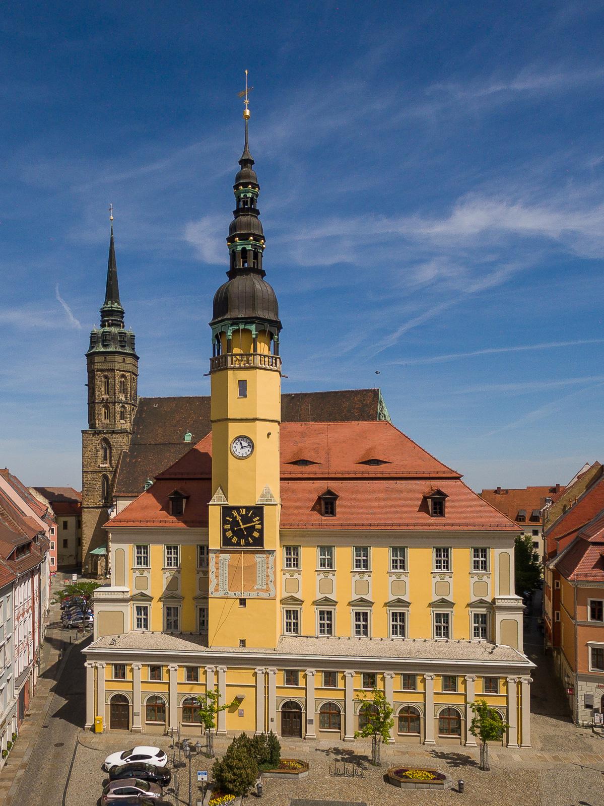Rathaus in Bautzen aus Richtung Innerer Lauenstraße
