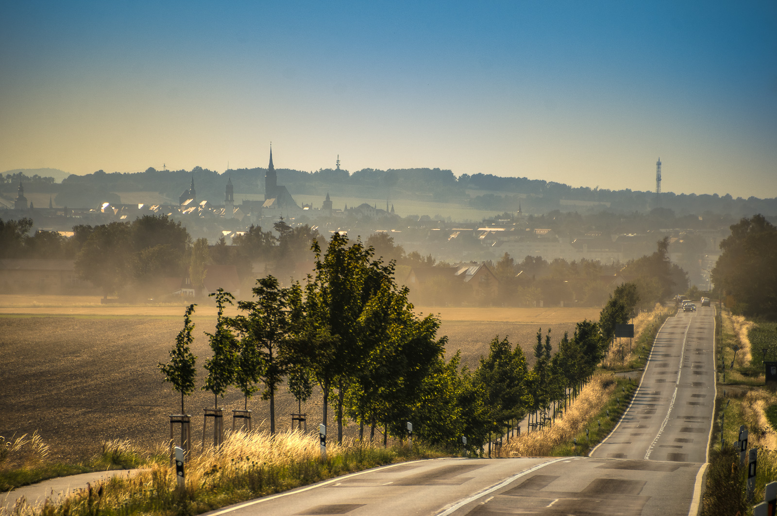 Stadtansicht Bautzen im Morgennebel